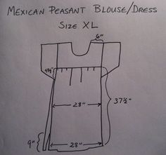 Another Mexican Peasant Blouse/Dress | Nicely Done