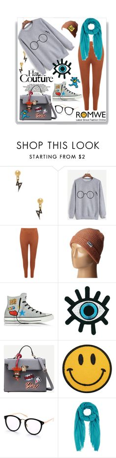 """""""HAVE FUN IN ROMWE"""" by beleev ❤ liked on Polyvore featuring Gemma Crus, WearAll, Neff, Converse, Faliero Sarti, Valley Cruise Press and romwe"""