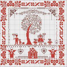семейная вышивка крестом схема