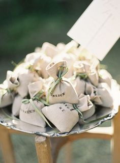 rustic wedding favor sachets