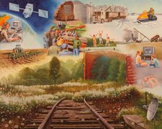 The - Painting Canadian Prairies, Western Canada, A Decade, Small Towns, History, Creative Art, Painting, Image, Creative Artwork