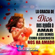La gracia de Dios nos ayuda a amar