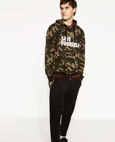 Image 1 of CAMOUFLAGE SWEATSHIRT from Zara