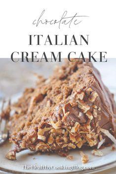 Chocolate Italian Cream Cake Recipe, Italian Cream Cakes, Chocolate Cake Recipe Easy, Chocolate Desserts, Chocolate Cream Cake, Italian Cream Wedding Cake Recipe, Quick Italian Cream Cake Recipe, Italian Rum Cake, Italian Cookies