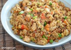Chicken Fried Rice - Slimming World Recipes. Slimming World Dinners, Slimming World Diet, Slimming Eats, Slimming World Recipes, New Recipes, Cooking Recipes, Healthy Recipes, Recipies, Family Recipes