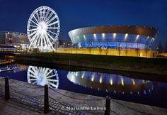 Echo arena an big wheel Liverpool Waterfront, Liverpool Home, Big Wheel, Architecture, Travel, Life, Image, Heart, Arquitetura