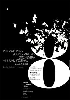 Philadelphia Young Artists Orchestra poster by Paone Design Associates.