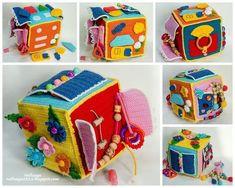 dado sensorial para bebés montessori Ideas Montessori para bebés de 0 a 1 año. Crochet Baby Toys, Crochet For Kids, Crochet Dolls, Baby Knitting, Baby Sensory, Sensory Toys, Cube Bebe, Fidget Quilt, Fabric Toys