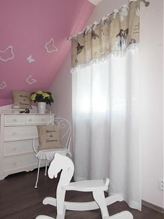 shabby.romantic / Ľanové závesy Rousseline Lovely kids room