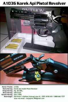 A1036 Korek Api Pistol Revolver