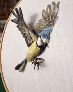 "2,056 Likes, 102 Comments - Sarah Perry (@sarahjperrydesigns) on Instagram: ""Birds with wings, whatever next! Happy Sunday #fauxtaxidermy #embroidery #newwork #enjoy #sunshine…"""