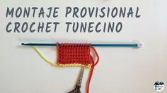 Montaje provisional en crochet tunecino