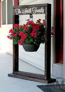 Plant Hanger Made From Pallets