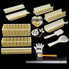 DIY Sushi Making Kit - 15 Pcs White Set