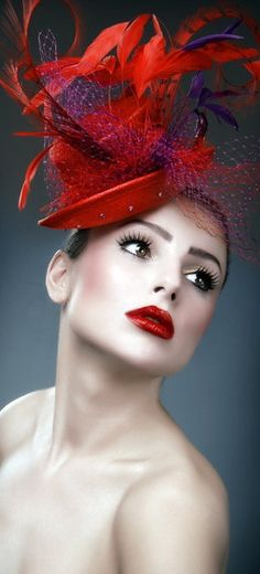 #Red and Purple Fascinator