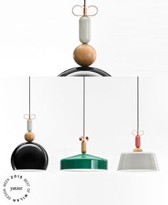 The BON TON suspension lamps collection by Cristina Celestino for Torremato.