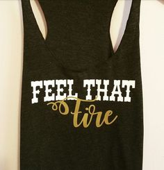 Feel That Fire Tank Top with Gold Metallic. Dierks Bentely Tank Top Dierks Bentley Shirt. Country Shirt Country Tank Top by SouthernCharme