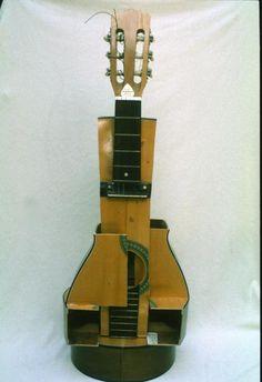 Cubist Guitar Sculpture ,Sara Allison