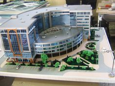 Архитектурный макет гостиницы