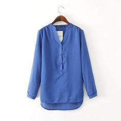 Linen Casual Blue Shirt, Women Apparel, Shirts. Online Fashion Shopping Store In India www.littledesire,.com