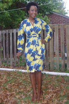 Wrap dress made from Mood's silk jersey. #moodfabrics