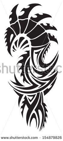 Dragon tattoo design, vintage engraved illustration.