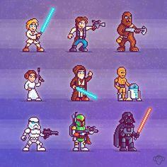 Retro #Star_Wars Sprites by brandonjamesgreer