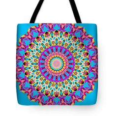 Birds of a Feather Tote Bag, by Joy McKenzie, in several sizes, on Pixels.com #tote #bag #kaleidoscope