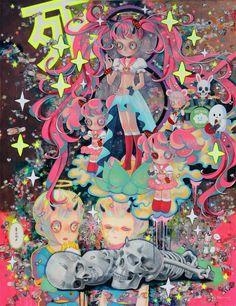 """Neo Raigou-Zu"" by Hikari Shimoda Arte Pop, Japanese Artists, Aesthetic Art, Dark Art, Art Boards, Cute Art, Art Inspo, Art Drawings, Anime Art"