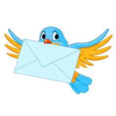 Clipart Bird Cartoon With Letter Royalty Free Vector Design