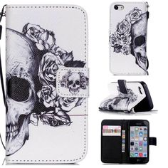 for Apple IPhone 5C Mobile Cell Phone Cases Flip PU Leather Stand Wallet Coque Case Cover With Card Holders for IPhone 5C