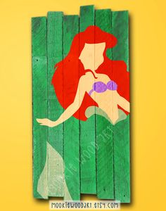 Hey, I found this really awesome Etsy listing at https://www.etsy.com/listing/226999942/ariel-little-mermaid-minamalist-painted