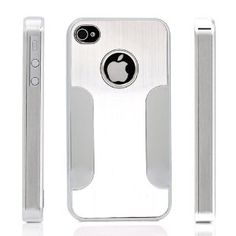 Premium Chrome Aluminum Skin Hard Back Case Cover for Apple iPhone 4 4G 4S Silver --- http://www.amazon.com/Premium-Chrome-Aluminum-iPhone-Silver/dp/B005JHIYLG/?tag=zaheerbabarco-20
