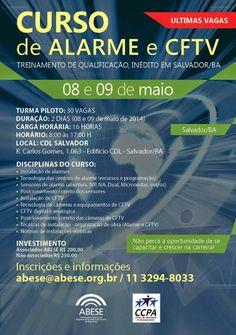 BRADO CONSULTORIA E SERVIÇOS LTDA.: CURSO DE ALARME E CFTV / ABESE