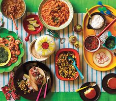 Mexican Dinner Party Menu (Roasted Shrimp with Pepita Pesto, Shredded Pork Tacos, Red Rice, Sauteed Corn and Poblanos, and Pineapple Flan) Mexican Dinner Party, Mexican Menu, Dinner Party Menu, Dinner Club, Mexican Food Recipes, Dinner Parties, Mexican Buffet, Taco Dinner, Mexican Night