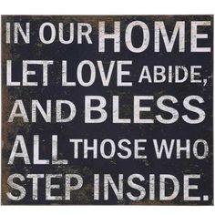 """Let Love Abide"" Wall Decor"