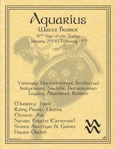 Wicca Aquarius Zodiac Astrology Sign Book Of Shadows Parchment Page Poster Witch Aquarius Traits, Astrology Aquarius, Aquarius Quotes, Aquarius Woman, Age Of Aquarius, Zodiac Signs Aquarius, Astrology Signs, Aquarius Art, Pisces Zodiac