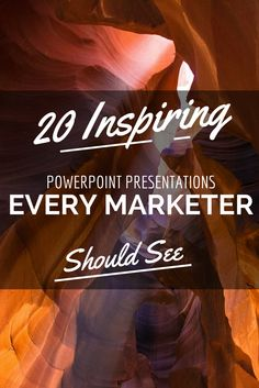 If you're looking to get started making your own PowerPoint or SlideShare presentation, why not learn from the best of the best?To help you kick your own presentations up a notch, here are 20 awesome SlideShares to check out.