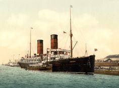 Cunard liner RMS Campania, 1890s  ¶ Cunard launched so many beautiful ships. Not as 'mighty' as White Star but more graceful.