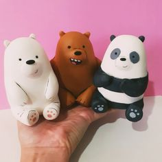 We Bare Bears, We Bear, Mini Craft, Piggy Bank, Clay, Drawings, Disney, Projects, Crafts