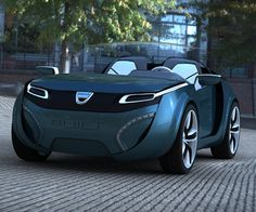 The Dacia SHIFT Concept, the futuristic-looking two-seater is powered by lithium-ion batteries with the electric engine located at the car's front while the hydrogen storage tanks are situated right beside the concept's rear wheels. #dacia #conceptcar