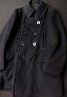 """超絶美個体!! Early 1900's US-NAVY """" 13star P-coat ( 13スターピーコート ) """""""