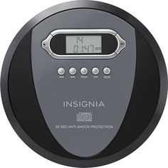 Insignia™ - Portable CD Player - Black/Charcoal (Black/Grey)
