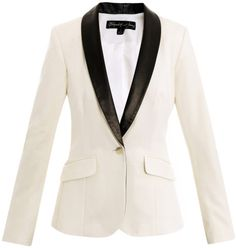ELIZABETH AND JAMES Jackets for Women | Elizabeth And James Rex Leatherlapel Tuxedo Jacket in White (ivory ...