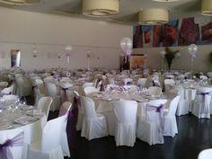 Decoración Salón con globos para boda