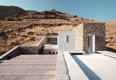 Rocksplit is a house to the sea in Kea island, Greece