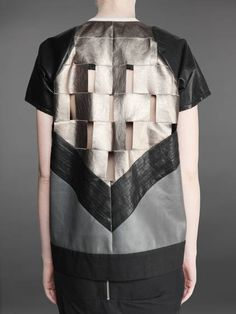 Leather Panelled Top - pattern cutting; contemporary fashion details // Rick Owens