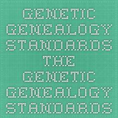 Genetic Genealogy standards - The Genetic Genealogy Standards