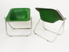 2 Chairs mod. Plona by Giancarlo Piretti for Castelli Italy 1970