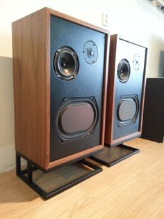 Restored Heathkit AS-9530 loudspeakers with KEF units. Made new cabinets and stands.